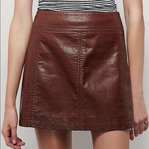 Free People Faux Suede Skirt